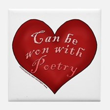 Can be won with Poetry Tile Coaster