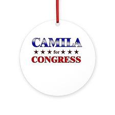 CAMILA for congress Ornament (Round)