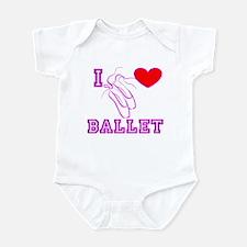 I Heart Ballet Shoes Pink Infant Bodysuit