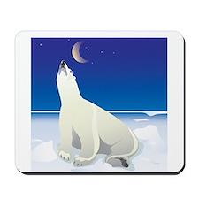 Polar Bear Wishing on a Star Mousepad