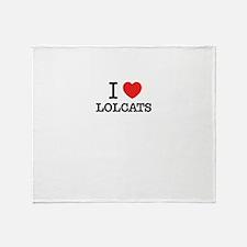 I Love LOLCATS Throw Blanket