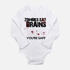 zombies eat brains youre safe funny Body Suit