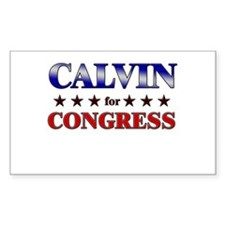 CALVIN for congress Rectangle Decal