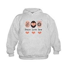 Peace Love Sew Sewing Hoodie