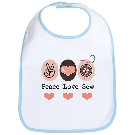 Peace Love Sew Sewing Bib