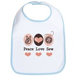 Peace Love Sew Sewing Bib