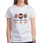 Peace Love Sew Sewing Women's T-Shirt
