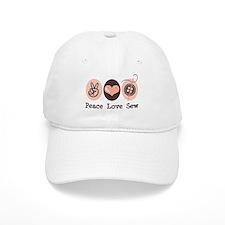 Peace Love Sew Sewing Cap