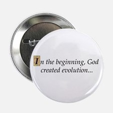 "In the beginning 2.25"" Button"
