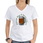 Patrick Was A Saint (Beer) Women's V-Neck T-Shirt