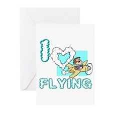 I Love Flying Greeting Cards (Pk of 20)