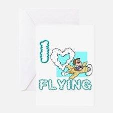 I Love Flying Greeting Card