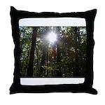 Sun through Trees Throw Pillow