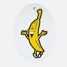 Dancing Banana Oval Ornament