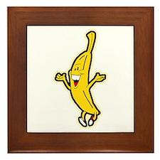 Dancing Banana Framed Tile