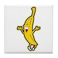 Dancing Banana Tile Coaster