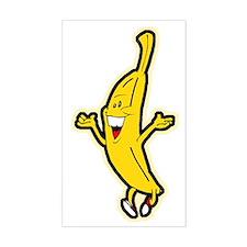 Dancing Banana Rectangle Decal