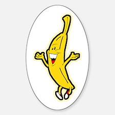 Dancing Banana Oval Decal