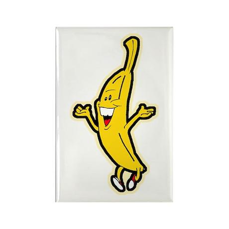 Dancing Banana Rectangle Magnet