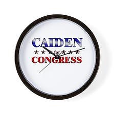 CAIDEN for congress Wall Clock