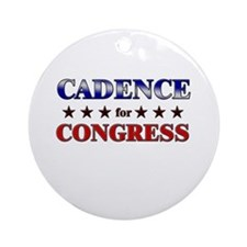 CADENCE for congress Ornament (Round)