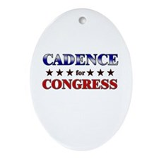 CADENCE for congress Oval Ornament