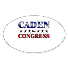 CADEN for congress Oval Decal