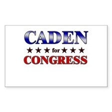 CADEN for congress Rectangle Decal
