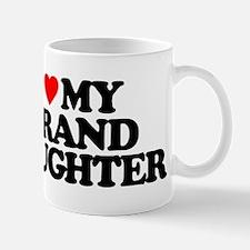 I LOVE MY GRANDDAUGHTER Small Small Mug