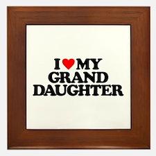I LOVE MY GRANDDAUGHTER Framed Tile