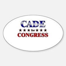 CADE for congress Oval Decal