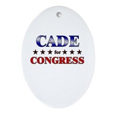 CADE for congress Oval Ornament