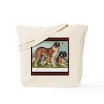 Antique Saint Bernard Rough Tote Bag