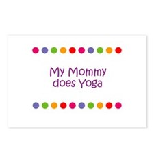 My Mommy does Yoga Postcards (Package of 8)