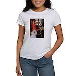 Lady..2 Poodles (ST) Women's T-Shirt