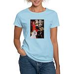 Lady..2 Poodles (ST) Women's Light T-Shirt