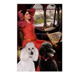 Lady..2 Poodles (ST) Postcards (Package of 8)