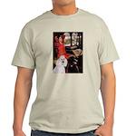 Lady..2 Poodles (ST) Light T-Shirt