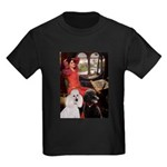 Lady..2 Poodles (ST) Kids Dark T-Shirt
