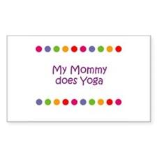 My Mommy does Yoga Rectangle Decal