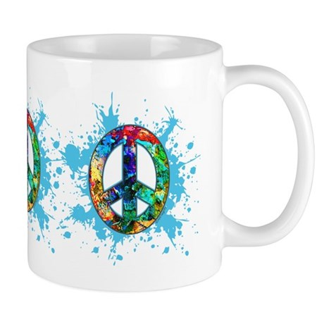 Painted Peace (blue) Mug
