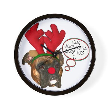 Boxer Christmas Wall Clock