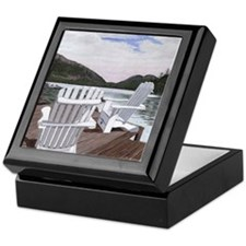 Kicking Back at Jordan Pond Keepsake Box
