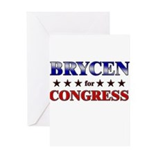 BRYCEN for congress Greeting Card