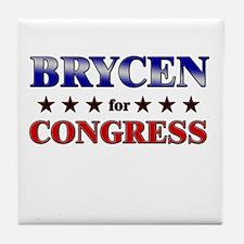BRYCEN for congress Tile Coaster