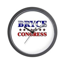 BRYCE for congress Wall Clock