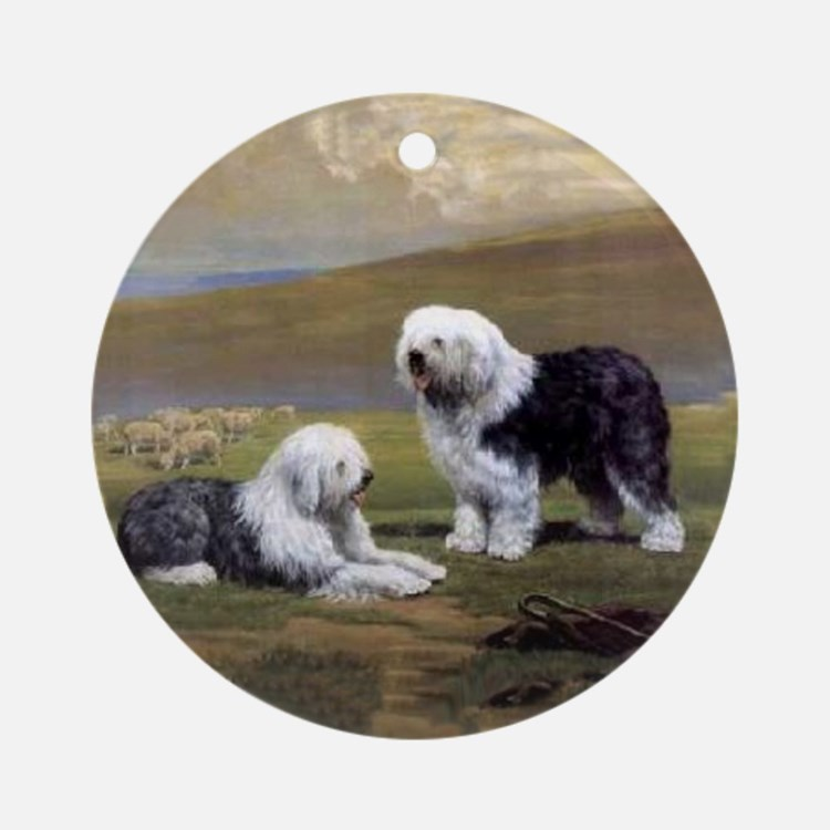 Old English Sheepdog Ornament (Round)