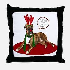 Boxer Christmas Throw Pillow