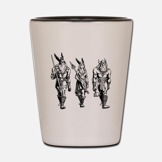 Odin Freyja & Thor Shot Glass