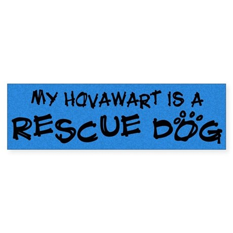Rescue Dog Hovawart Bumper Sticker